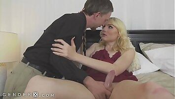 GenderX - Hot Trans Welcomes BF Home With Her Big Dick